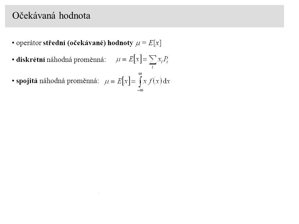 Očekávaná hodnota operátor střední (očekávané) hodnoty m = E[x]